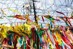 Millions of prayer ribbons Stock Photo