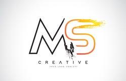 Milliseconde Creative Modern Logo Design avec des couleurs oranges et noires mon illustration stock