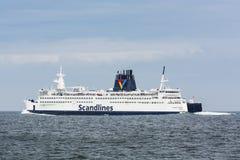 Milliseconde danoise Kronprins Frederik de ferry-boat transportant des passagers Photographie stock libre de droits