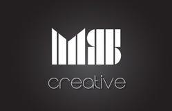 Milliseconde M S Letter Logo Design With White et lignes noires Photos stock