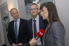 Milliseconde Ministre de santé danois de Sophie Loedhe (hde de ½ de ¿ de Sopie Lï) Photos libres de droits