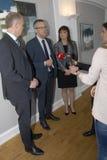 Milliseconde Ministre de santé danois de Sophie Loedhe (hde de ½ de ¿ de Sopie Lï) Photo libre de droits