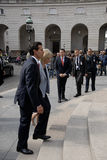 Milliseconde PIA KJAERSGAARD_PREISENT ENRIQUE FENO NIETO Photos libres de droits