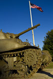 Millitary Tank with USA Flag Royalty Free Stock Photography