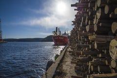 Millivolt landy, Schiffstyp: gemischte Ladung, Flagge: Norwegen lizenzfreie stockfotos
