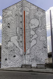 Millo street artist at work in avellino Stock Images