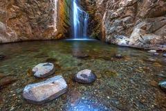 Millomeris瀑布,塞浦路斯 库存照片
