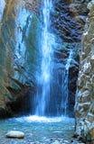 Millomeris Waterfall in Rock Cave, Troodos mountains. Millomeris Waterfalls in Troodos mountains, Cyprus Royalty Free Stock Image