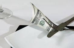 Millonario de la riqueza de los dólares del dinero Fotografía de archivo libre de regalías