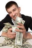 Millonario de la riqueza de los dólares del dinero Imagen de archivo libre de regalías
