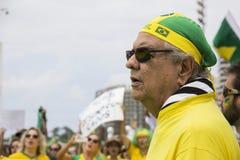 Millones de brasileños piden la acusación de Dilma Rousseff Foto de archivo