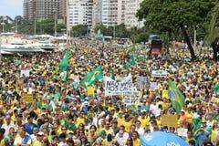 Millones de brasileños piden la acusación de Dilma Rousseff Fotografía de archivo