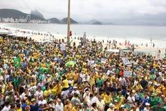 Millones de brasileños piden la acusación de Dilma Rousseff Fotos de archivo libres de regalías