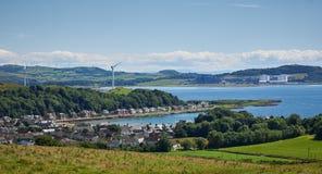 Millporteiland van Cumbrae en Firth van Clyde Stock Afbeelding