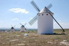 Mills. Don Quijote land and mills in Campo de Criptana Royalty Free Stock Image