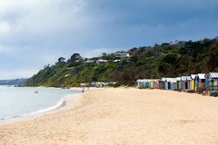 Mills Beach in Mornington Stockfoto