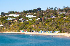 Mills Beach in Mornington Stockfotos