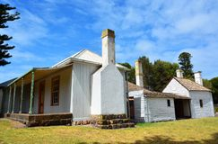 Mills Cottage i portfen, VIC Royaltyfria Bilder