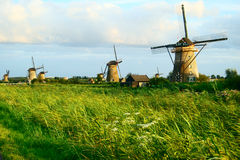 MILLS IN A DUTCH LANDSCAPE royalty free stock images