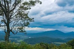 Mills Gap och James River Overlook, Virginia USA arkivfoto