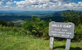 Mills Gap Overlook Blue Ridge-Allee Lizenzfreie Stockbilder