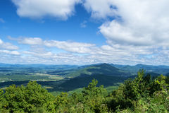 Mills Gap Overlook de Ridge Parkway azul fotos de stock royalty free