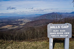 Mills Gap Overlook von blauen Ridge Parkway Stockbild