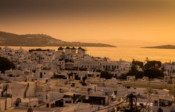 Mills on the Greek island Stock Images