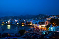 Mills on the Greek island Stock Photography
