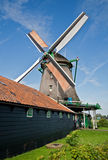 Mills in Holland. Mill and  shed in the neighbourhood of Zaandam at Koog aan de Zaan Royalty Free Stock Photos