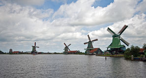 Mills in Holland. Several mills in the neighbourhood of Zaandam Stock Photography