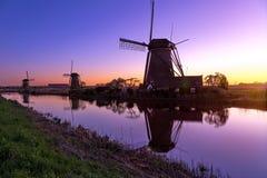 Mills of Kinderdijk near Rotterdam Royalty Free Stock Photo