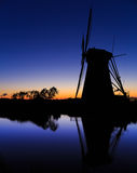 Mills of Kinderdijk near Rotterdam Royalty Free Stock Images
