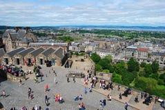 Mills Mount batteries and One OClock Gun of Edinburgh Castle. royalty free stock images
