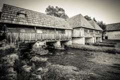 Mills on the river Gacka Stock Images