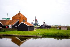 Mills in Zaandam Royalty Free Stock Photo