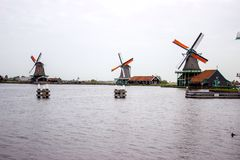 Mills in Zaandam Royalty Free Stock Photography
