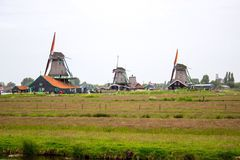 Mills in Zaandam Stock Photo