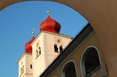 Millstatt Abbey. Architectural details of Millstatt Abbey, Stift Millstatt, Carinthia, Austria stock image