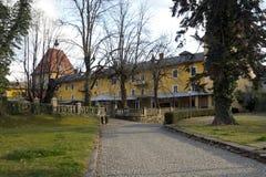 Millstatt-Abteihof Stockfoto
