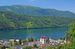 Millstatt, See Millstatt, Österreich lizenzfreies stockbild