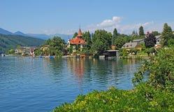 Millstatt, See Millstatt, Österreich lizenzfreie stockbilder