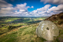 Millstone at Curbar Edge Royalty Free Stock Image