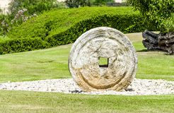 The millstone, olive oil press Stock Photo