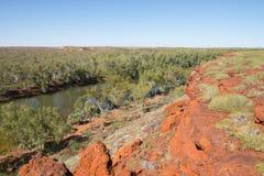 Millstream Chichester nationalparkvildmark Australien Arkivfoton