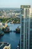 Millwall-Docks Lizenzfreie Stockbilder