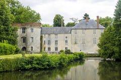 Milly-la-Foret - Castle. Milly-la-Foret (Essonne, Ile-de-France) - Exterior of the ancient castle Stock Photography