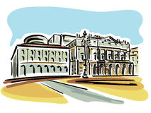 Milán (teatro de la ópera del La Scala) Imagenes de archivo