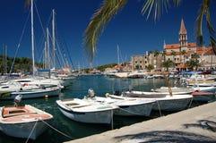 Picturesque marina in Milna on Brac island, Croati Stock Image