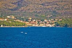 Milna on island of Brac Stock Photos